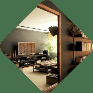 Rio apartment Flatiron Building copper window mirror