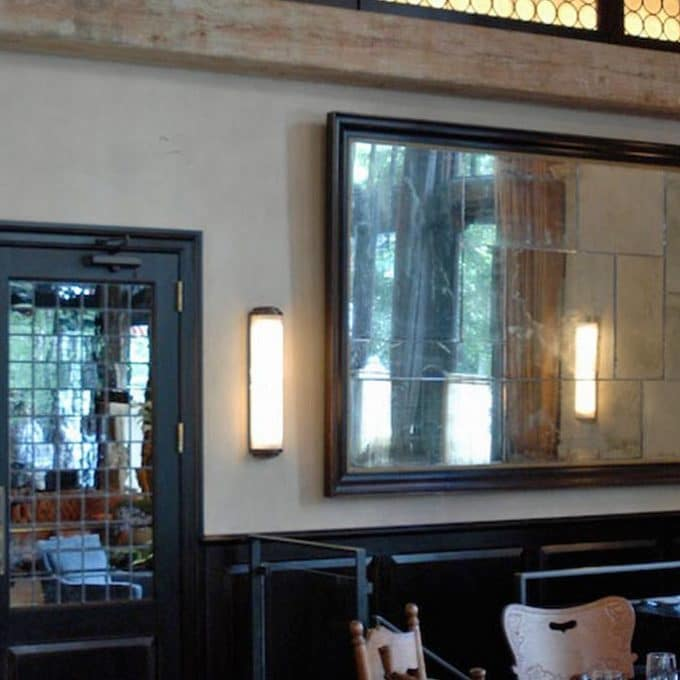 Ago Restaurant distressed antiqued mirror