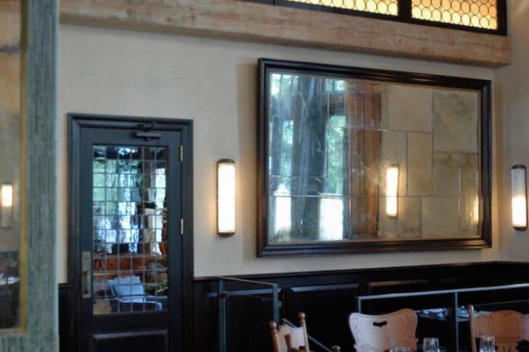 Ago Restaurant distressed antiqued mirror