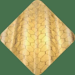 Amber corrugated chicken wire glass