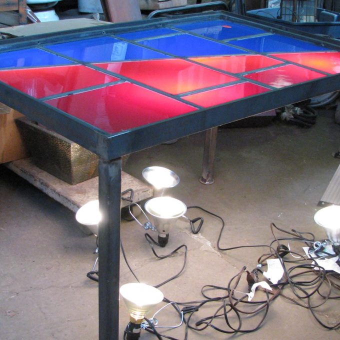 American Airlines Robert Sowers stained glass table
