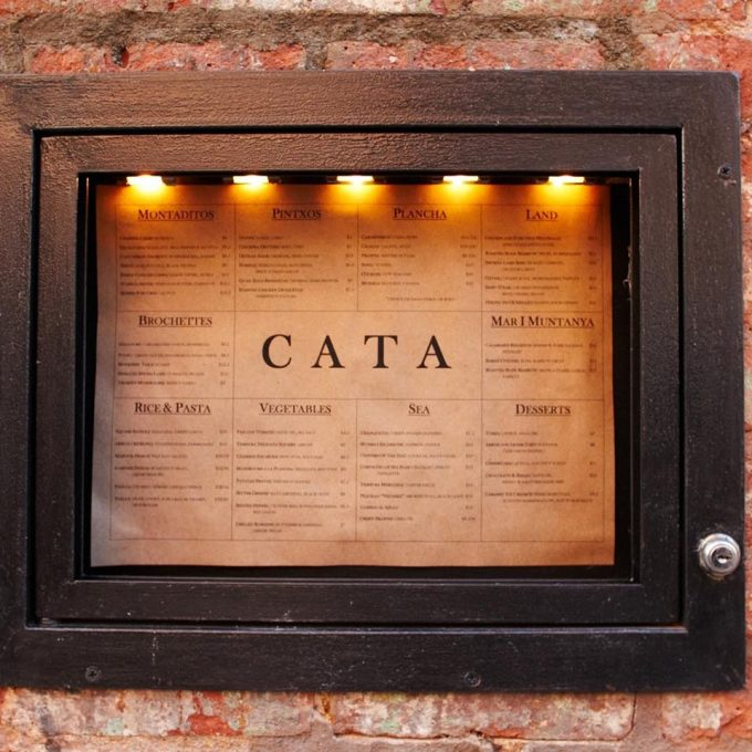 Cata Restaurant chicken wire glass and antiqued mirror
