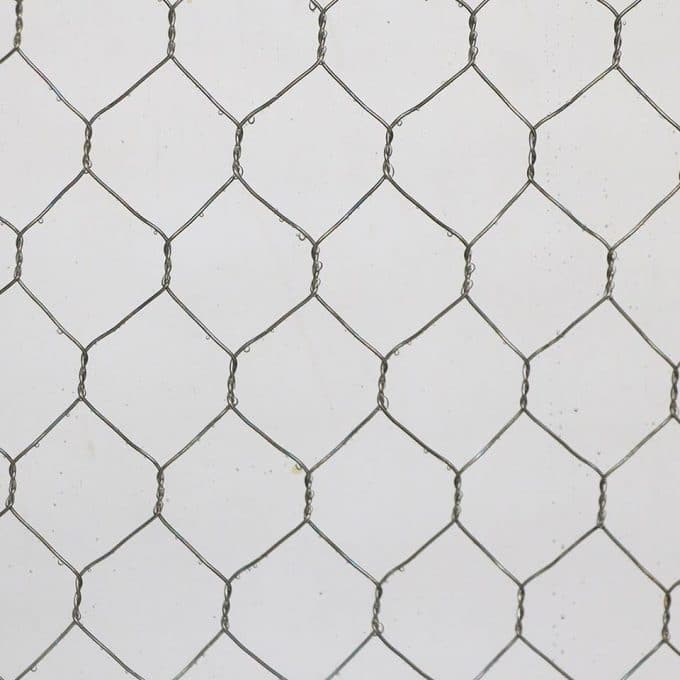 Clear chicken wire glass