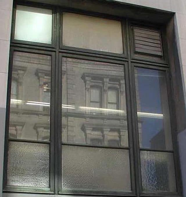 Cooper Union reclaimed copper windows