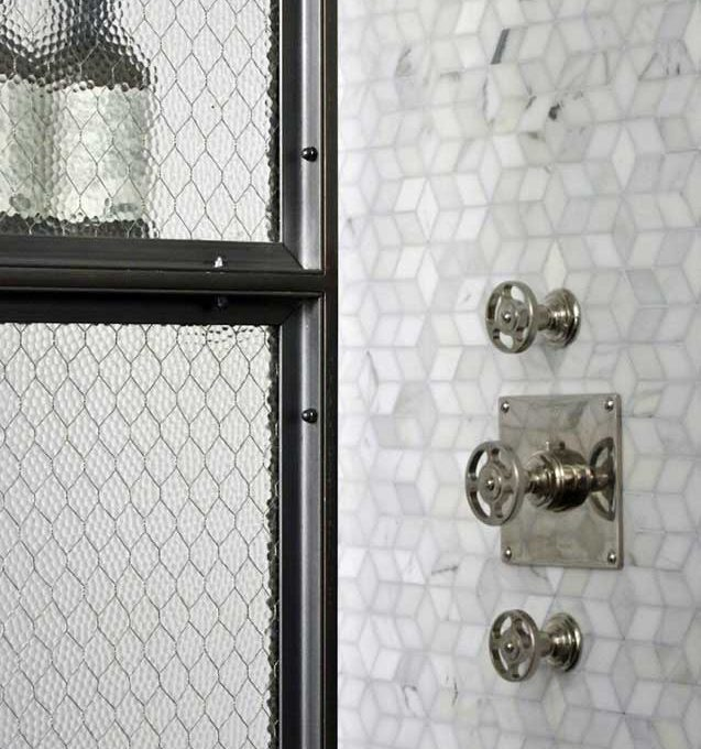 Loft apartment olde good glass nyc loft pebbled chicken wire glass bathroom partitions planetlyrics Choice Image